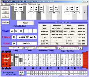 musicord music chords for keyboards and strings