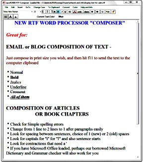 rtf composer scratchpad word processor